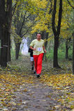 Runner takes part in amateur sports run competitions Stock Image