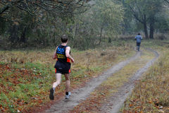 Runner takes part in amateur sports run competitions Royalty Free Stock Image