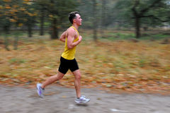 Runner takes part in amateur sports run competitions Royalty Free Stock Photos