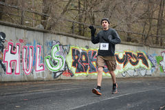 Runner is taking part in the competition Stock Photos
