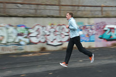 Runner is taking part in the competition Stock Photography