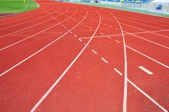 Runner track Stock Photography