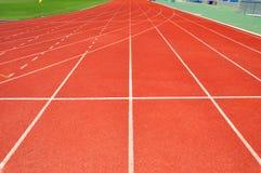 Runner track. Abstract full view runner track Stock Photo