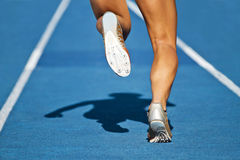 Runner track Stock Images