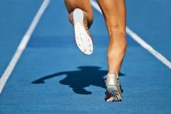 Runner track. Dynamic run of sprinter in stadium Stock Images