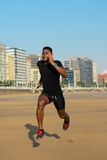 Runner training at the beach Royalty Free Stock Photography