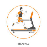 Runner on Treadmill Concept Royalty Free Stock Photography