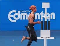 Runner At Triathlon Stock Photos