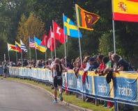 Runner At Triathlon Stock Images
