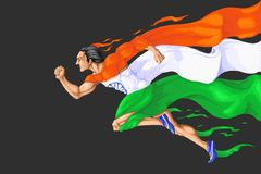 Runner in Tricolor Stock Images