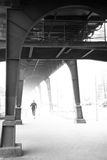Runner under viaduct Stock Photos