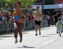 Runner on UNICEF Fun Run 2009. 22nd Belgrade Banca Intesa Marathon Belgrade 2009 Royalty Free Stock Photo
