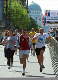 Runner on UNICEF Fun Run 2009. 22nd Belgrade Banca Intesa Marathon Belgrade 2009 Royalty Free Stock Photos