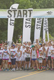Runner Wait to Start the Color Run Stock Images