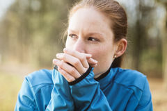 Runner Warming Up Hands Stock Images