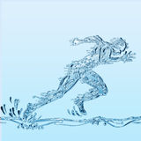 Runner of water Stock Image