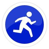 Runner web button Royalty Free Stock Image