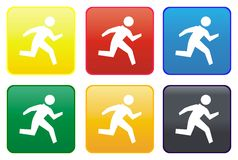 Runner web button Stock Image