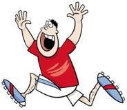 Runner winner cartoon. Cartoon Illustrations of Runner Sportsman or Athlete Winning the Race Royalty Free Stock Photo