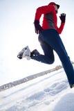 Runner in winter Royalty Free Stock Photo