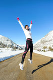 Runner winter success Royalty Free Stock Photo