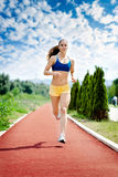 Runner - woman running Stock Images
