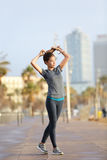 Runner woman running, Barcelona Beach Barceloneta Stock Photography
