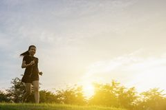 Runner woman running royalty free stock image