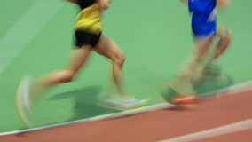 Runners. Running in track and field Stock Image