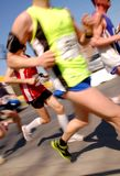 Runners. Sportsmen running at the marathon Royalty Free Stock Images
