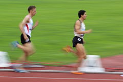 Runners in 1500 metres race in Prague 2012 Royalty Free Stock Photo