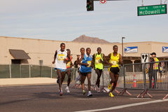 Runners in the 2010 Phoenix Marathon Royalty Free Stock Photos