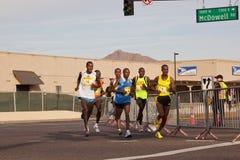 Runners in the 2010 Phoenix Marathon Royalty Free Stock Photos