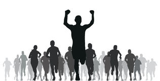 Runners. A group of silhouette runners Royalty Free Stock Photography