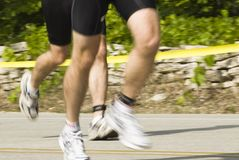 Runners. Triathletes competing in the annual Door County Triathlon. Summer 2007 Stock Images