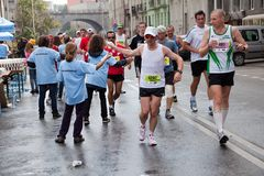 Runners in 32nd Warsaw Marathon Stock Image