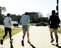 Runners. Three men running Royalty Free Stock Photography