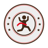 Runners athlete silhouette icon Royalty Free Stock Photos