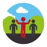 Runners athlete silhouette icon Stock Photo