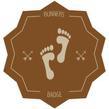 Runners badge Stock Images