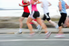Runners, blurred motion Stock Photography