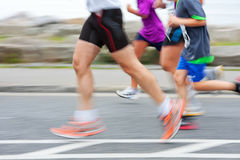 Runners, blurred motion Stock Images