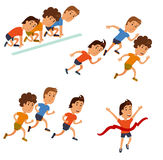 Runners cartoon character. Royalty Free Stock Image