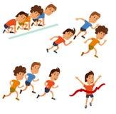 Runners cartoon character. Royalty Free Stock Image