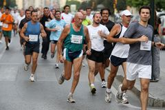 Runners of the city of Malaga urban race 2007 Stock Images