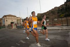 Runners of the city of Malaga urban race 2007 Stock Photo