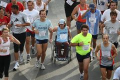 Runners of the city of Malaga urban race 2007. Runners during the XXIX urban race at the city of Malaga, Spain, October 14th 2007 Stock Image
