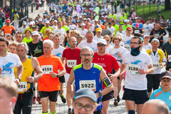 Runners on the city streets on May 18, 2014 in Krakow, POLAND Stock Image
