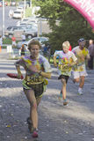 Runners in the Color Run Stock Images