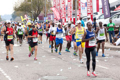 Runners Competing in the 2014 Comrades Marathon Road Race Stock Images